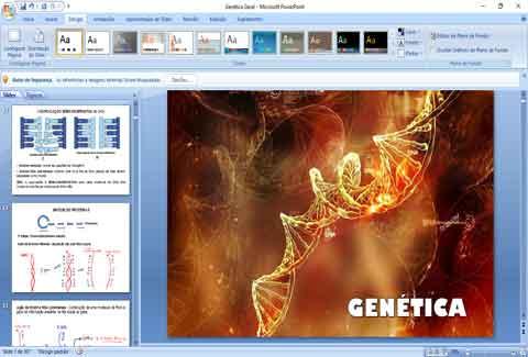 Slides de genética