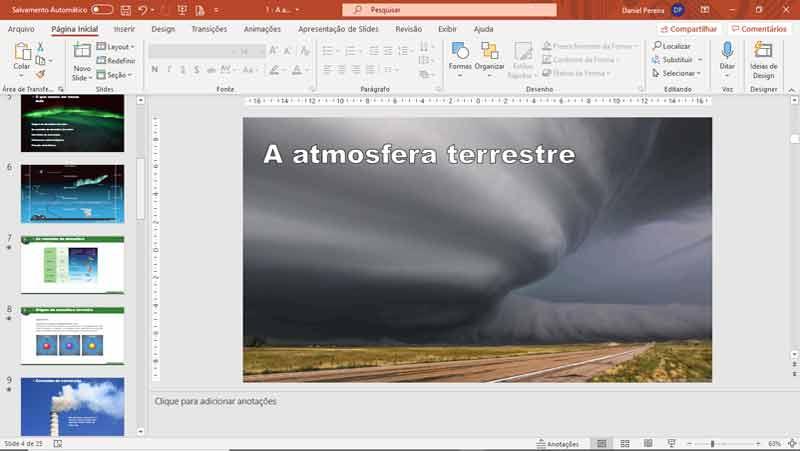 Slides de ciências - A atmosfera