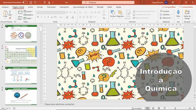 Slides de ciências - Introdução à química