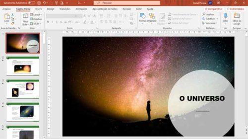Kit slides de ciências - O universo