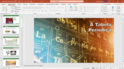Kit slides de ciências - Tabela periódica